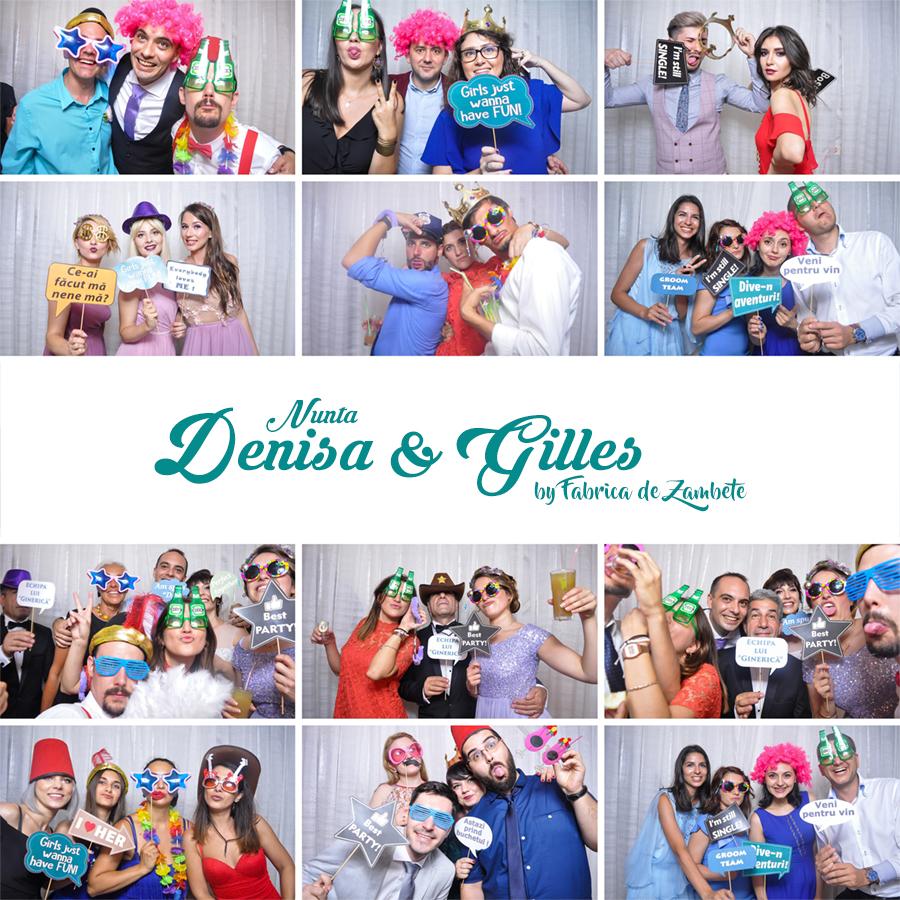 Cabina foto de inchiriat nunta Craiova, Denisa si Gilles - Fabrica de zambete