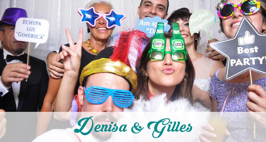 Cabina foto de inchiriat nunta Craiova Denisa si Gilles - Fabrica de zambete