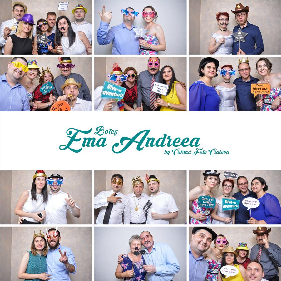 Cabina foto de inchiriat botez Craiova Ema - Fabrica de zambete