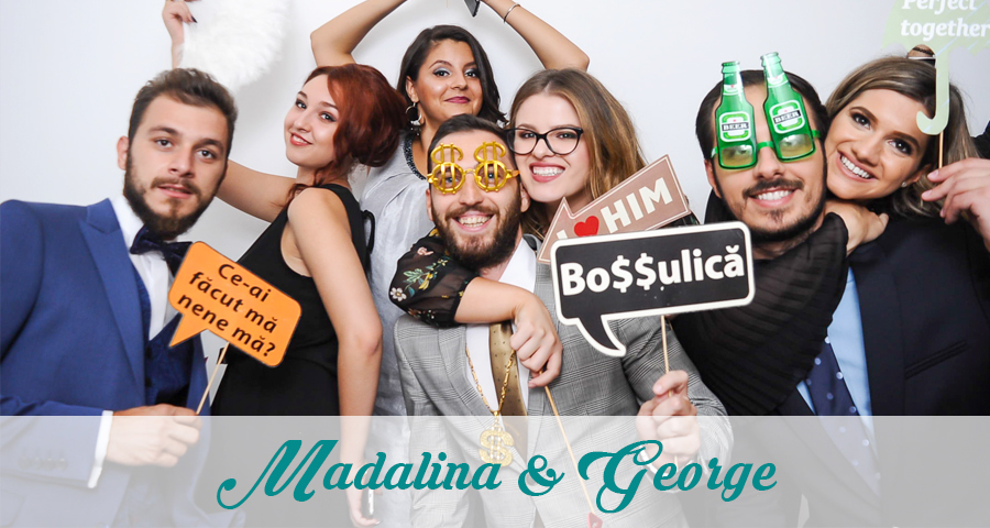 Cabina foto Craiova de inchiriat - Fabrica de zambete - Nunta Madalina si George