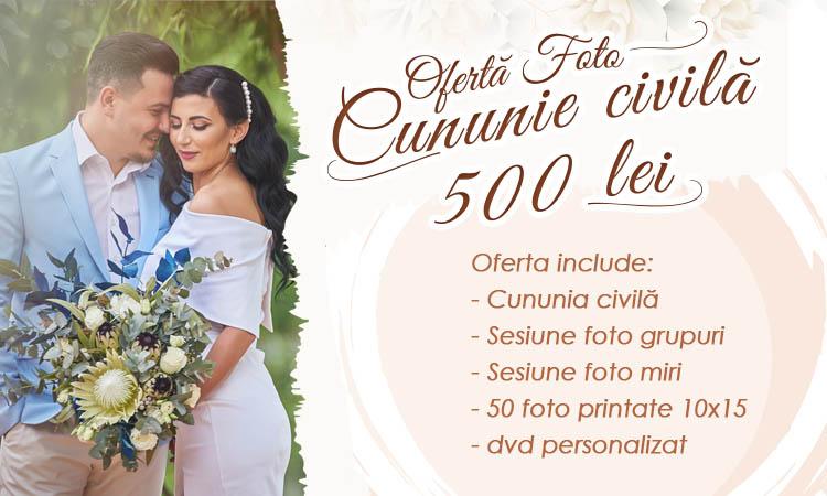 Oferta de pret fotograf Craiova cununie civila nunta, Valentin Ieremiea, detalii